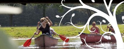Tijdens een prachtige kanotocht op de Aa kunt u genieten van het natuurgebied.